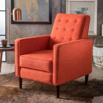 Palatine Fabric Recliner Upholstery: Muted Orange