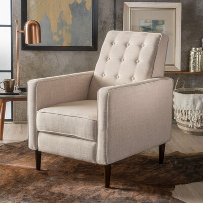 Palatine Manual Recliner Upholstery: Cream
