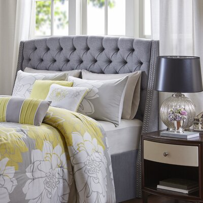 Corbett Upholstered Wingback Headboard Size: King