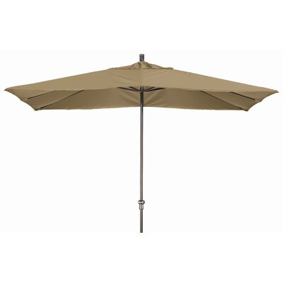Chase 8 x 11 Rectangle Market Umbrella Fabric: Sunbrella AA Sesame Linen