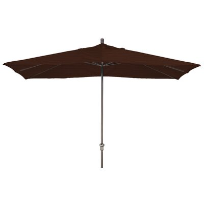 Chase 8 x 11 Rectangle Market Umbrella Fabric: Sunbrella-Bay Brown