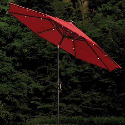 Allston 9 Illuminated Umbrella Color: Scarlet