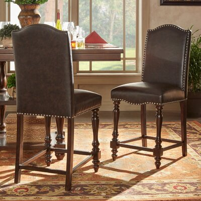 Image of Hilliard Dinings Chair Upholstery Type - Color: Faux Leather - Brown