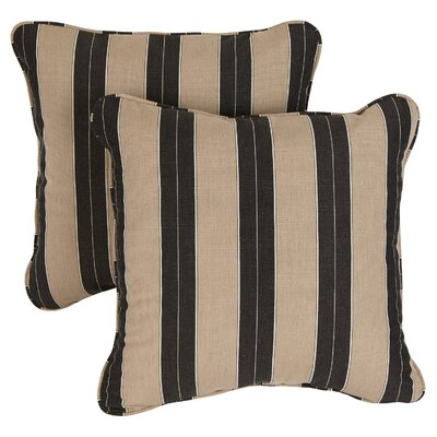 Basilia Outdoor Sunbrella Throw Pillow Size: 20 x 20, Fabric: Berenson Tuxedo
