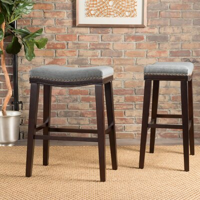 Reyes 30 Bar Stool Upholstery: Fabric - Charcoal
