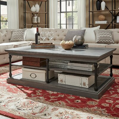 Gail Coffee Table Color: Grey