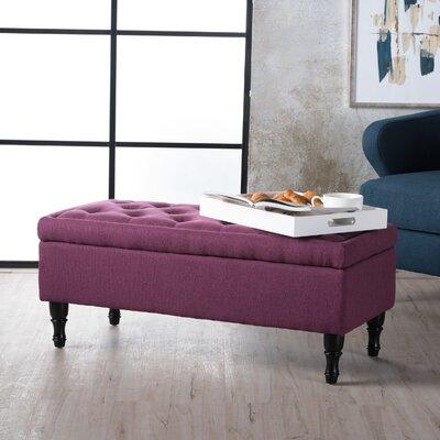 Higginbotham Upholstered Storage Ottoman Upholstery: Dark Fuschia