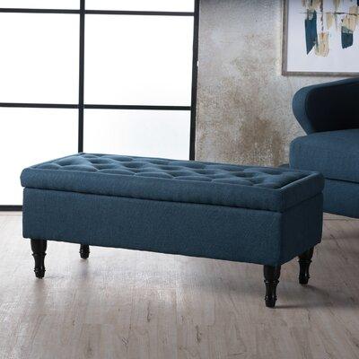 Higginbotham Upholstered Storage Ottoman Upholstery: Navy Blue