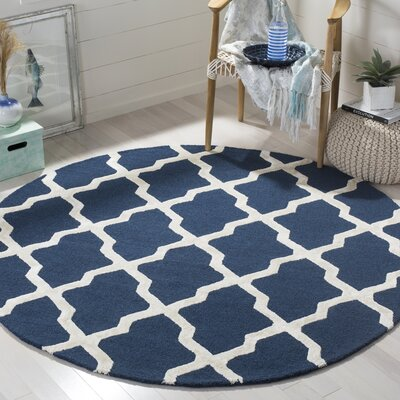 Parker Lane Hand Tufted Navy Area Rug Rug Size: Square 6