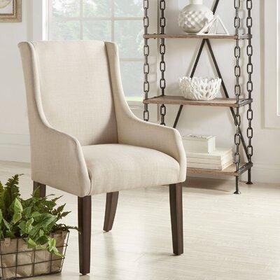 Tinley Linen Sloped Armchair Upholstery: Beige