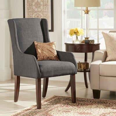 Tinley Linen Sloped Armchair Upholstery: Dark Grey