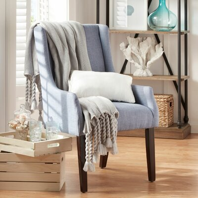 Tinley Linen Sloped Armchair Upholstery: Light Blue