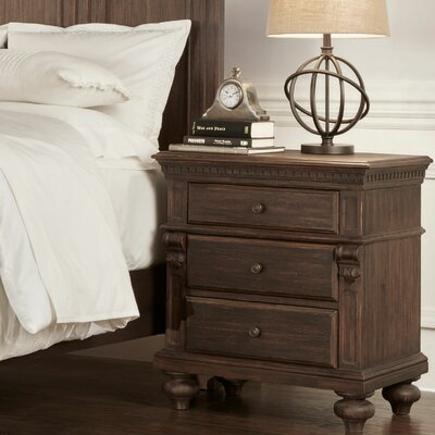 Hartsville 3 Drawer Bedside Table