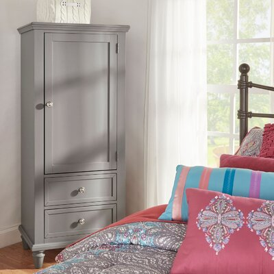 Isabella Armoire Color: Frost Gray