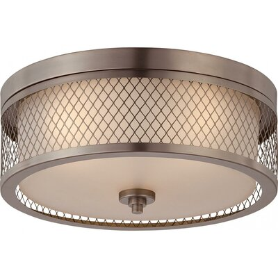 Lofton 3-Light Flush Mount Finish: Hazel Bronze