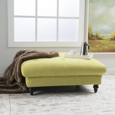 Avoca Cocktail Ottoman Upholstery: Light Green