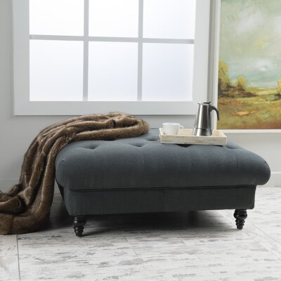 Avoca Ottoman Upholstery: Dark Grey