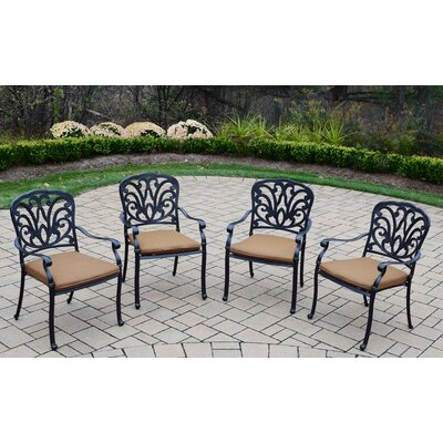 Bosch Aluminum Powder Coated 9 Piece Dining Set with Cushions and Umbrella