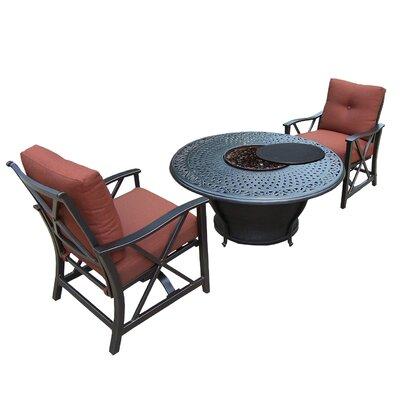 Owego 6 Piece Conversation Set with Acrylic Fabric Cushions