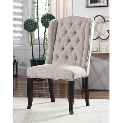 Hilaire Upholstered Dining Chair Upholstery Color: Beige