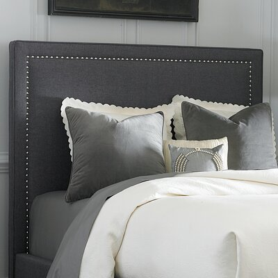 Dansville Upholstered Panel Headboard Size: Full, Upholstery: Gray