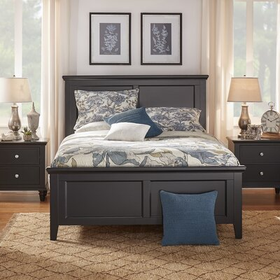 Isabella Panel Bed Color: Vulcan Black, Size: Full