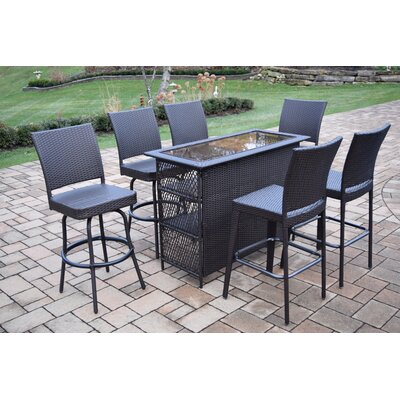 Tasteful Durable Wicker Bar Set Product Photo