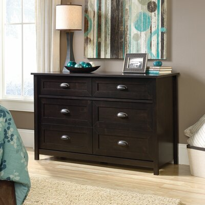 Coombs 6 Drawer Double Dresser Color: Estate Black