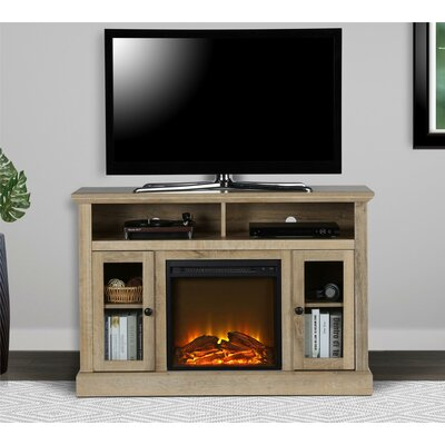 Rosier 47 TV Stand with Electric Fireplace Finish: Natural