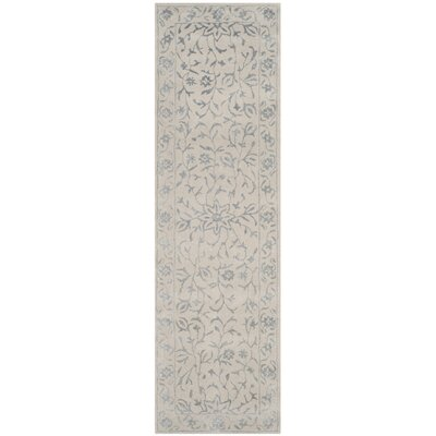 Daphne Hand-Tufted Gray/Beige Area Rug Rug Size: Runner 23 x 8