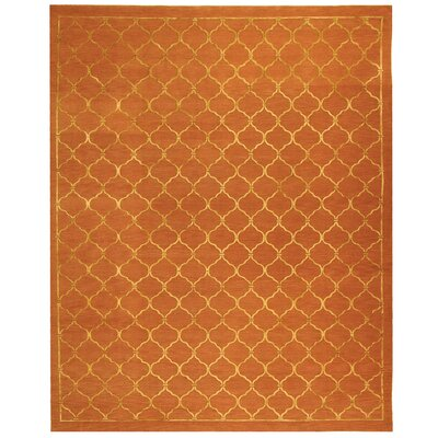 West Bromwich Tibetan Hand Knotted Silk/Wool Rust Area Rug Rug Size: Rectangle 8 x 10