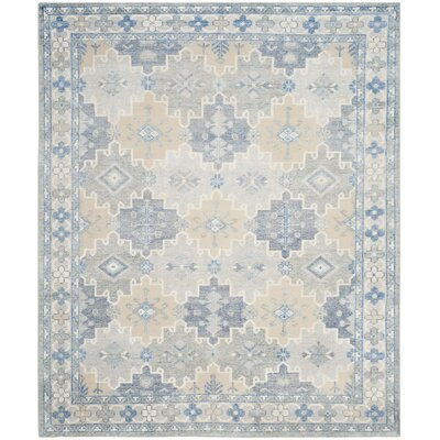 Baum Hand-Knotted Blue Area Rug Rug Size: Rectangle 8 x 10