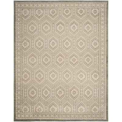Baum Hand-knotted Beige Area Rug Rug Size: Rectangle 8 x 10