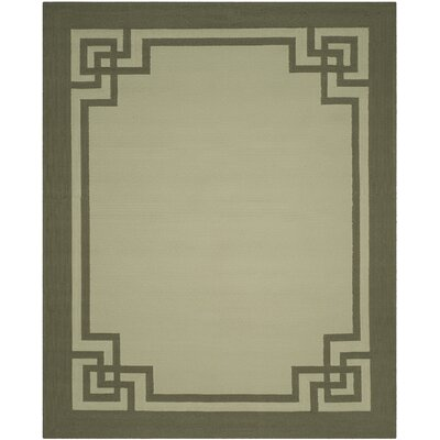 Rebersburg Hand-Hooked Moss/Dark Sage Indoor/Outdoor Area Rug Rug Size: Rectangle 8 x 10