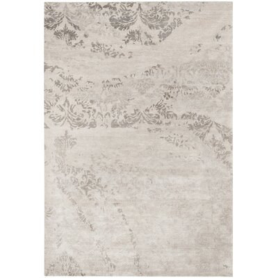 Lees Hand-Knotted Platinum Area Rug Rug Size: Rectangle 6 x 9