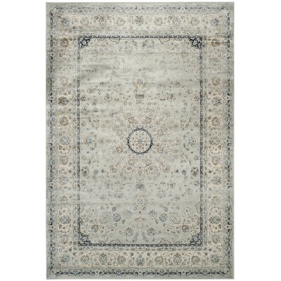 Jules Gray/Black Area Rug Rug Size: Rectangle 8 x 11