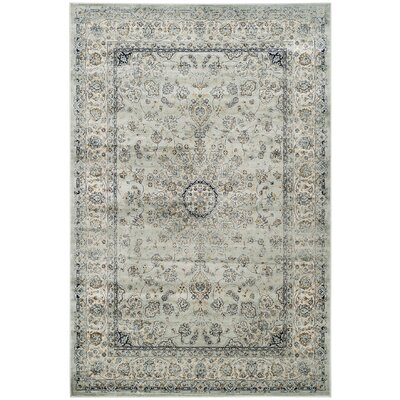 Jules Gray/Black Area Rug Rug Size: Rectangle 51 x 77