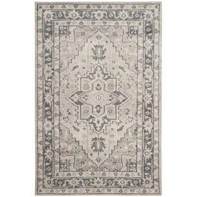 Pearse Hand-Knotted Gray Area Rug Rug Size: Rectangle 4 x 6