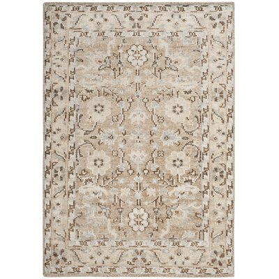 Pearse Hand-Knotted Brown Area Rug Rug Size: Rectangle 4 x 6