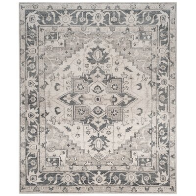 Pearse Hand-Knotted Gray Area Rug Rug Size: Rectangle 8 x 10