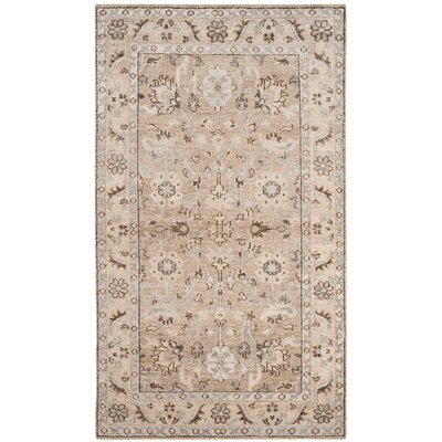 Pearse Hand-Knotted Brown Area Rug Rug Size: Rectangle 5 x 8