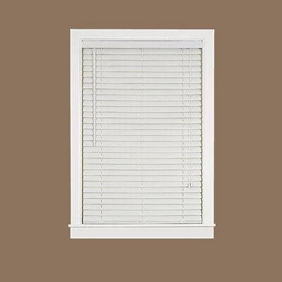 Venetian Blind Size: 42.5 W x 64 L, Color: White