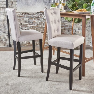 Schiller 30 Bar Stool Upholstery: Wheat Fabric