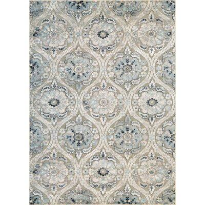 Walshville Greige/Antique Cream Area Rug Rug Size: Rectangle 53 x 76