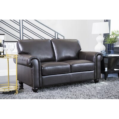 Coggins Leather Loveseat