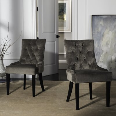 Elk Birch Wood Side Chair Upholstery: Mole Grey