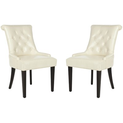 Allensby Upholstered Dining Chair Upholstery: Cream