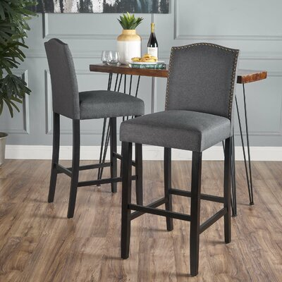 Sauget 34 Bar Stool Upholstery: Dark Charcoal