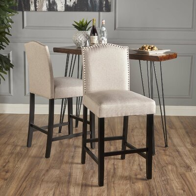 Sauget 26.75 Bar Stool Upholstery: Wheat