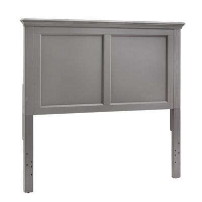 Isabella Panel Headboard Color: Frost Gray, Size: Full